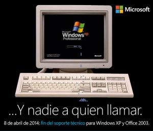 Windows XP sin soporte