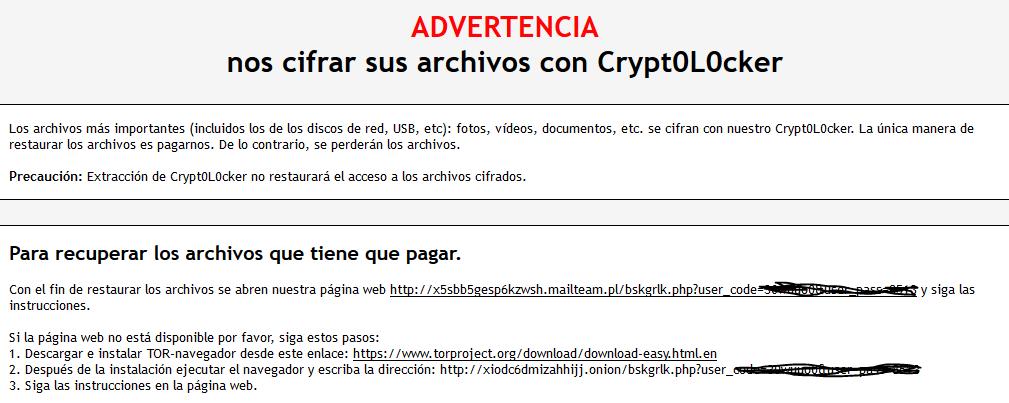Nuevos ataques de Cryptolocker